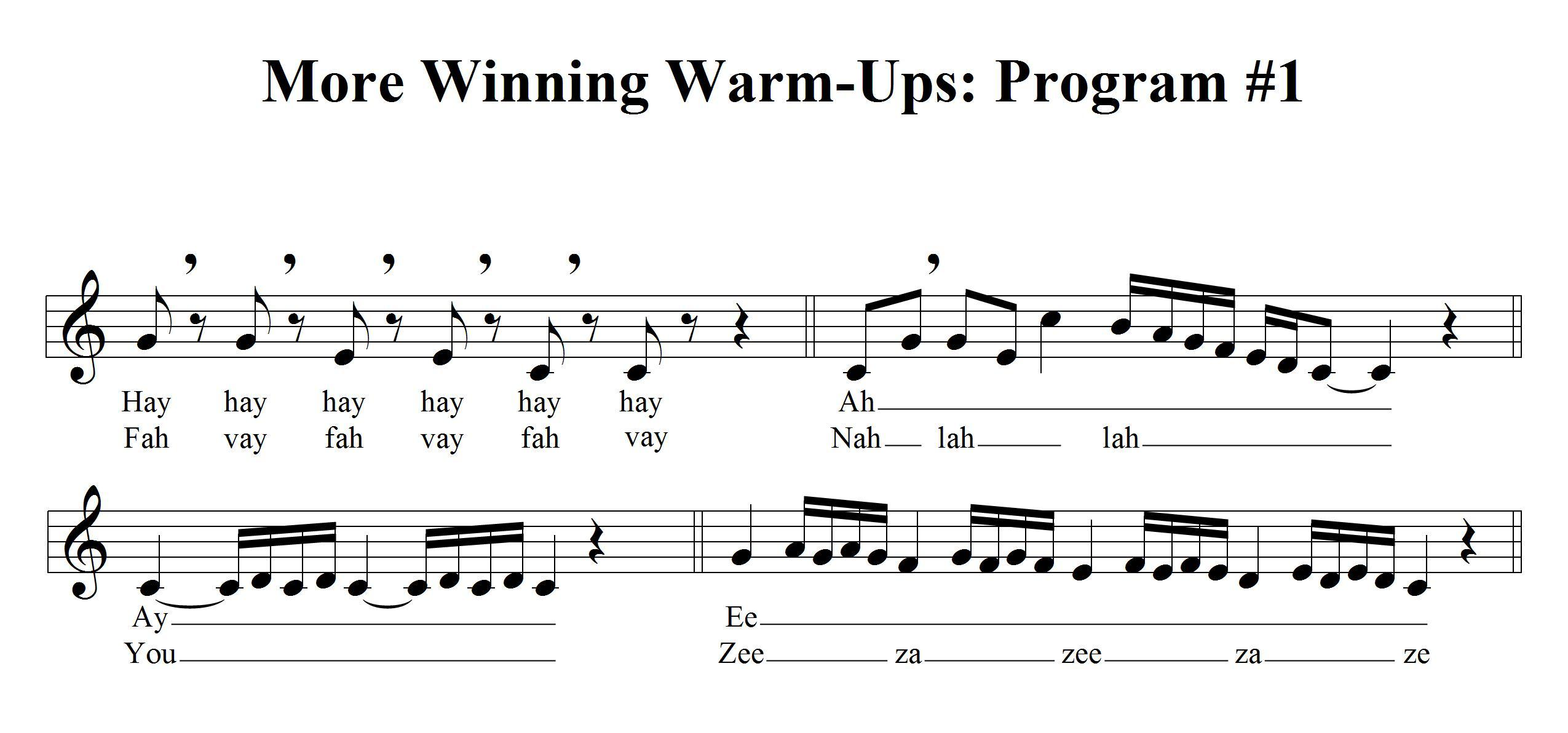 Domenico Productions, Inc. - More Winning Warm-ups for the Voice ...