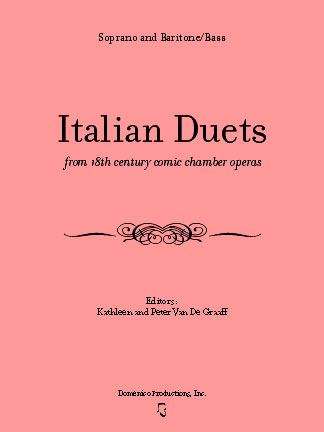 Italian Duets from 18th century comic chamber operas with CD Italian duet, soprano and bass duet, opera duet