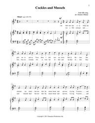 Cockles and Mussels Folk song, English, download, Cockles and Mussels, PDF, print music